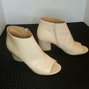 Maison Margiela Nude Leather Ankle Booties Size 7